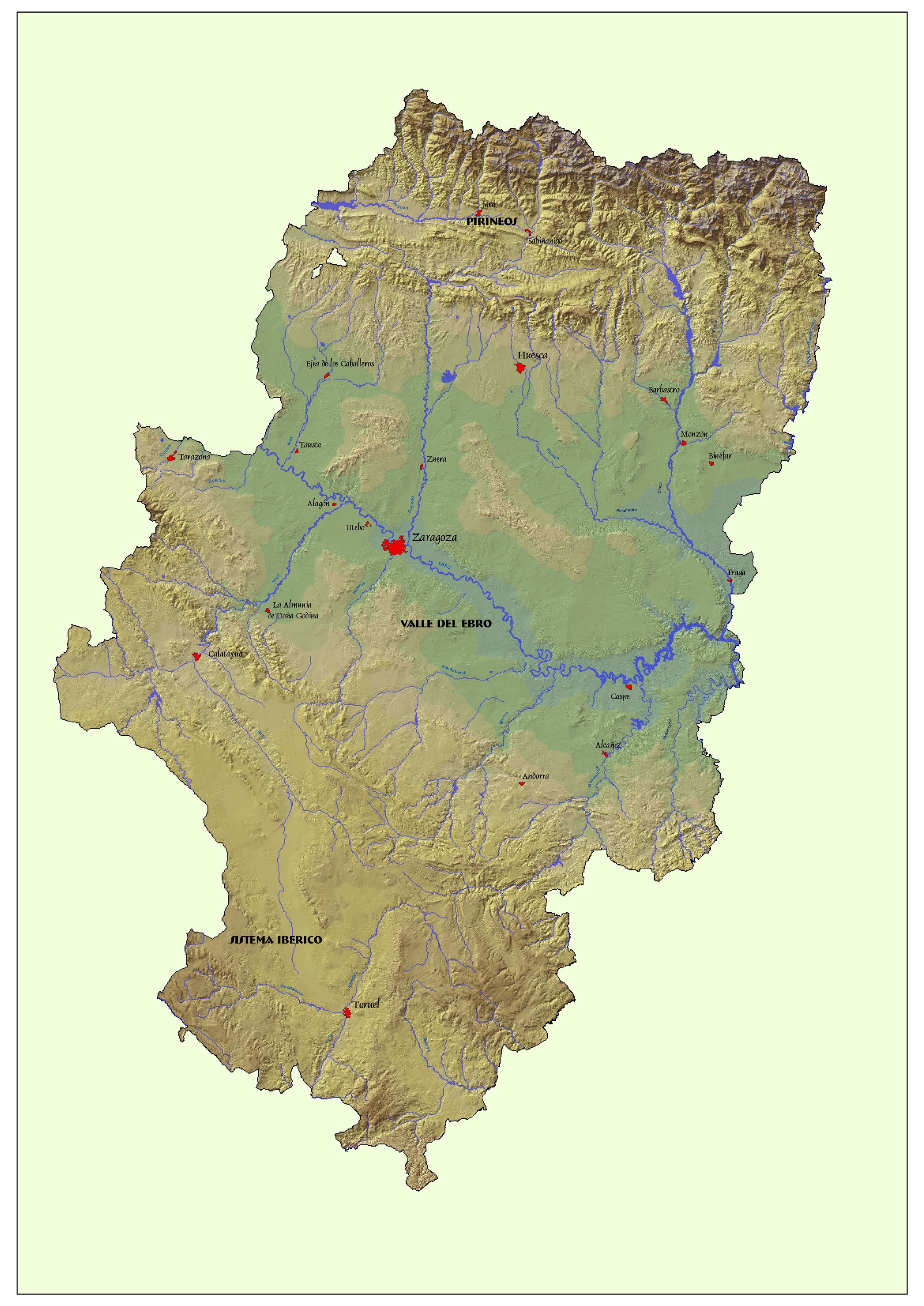 Aragon map