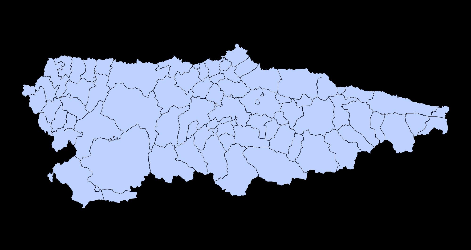Municipalities of Asturias 2003