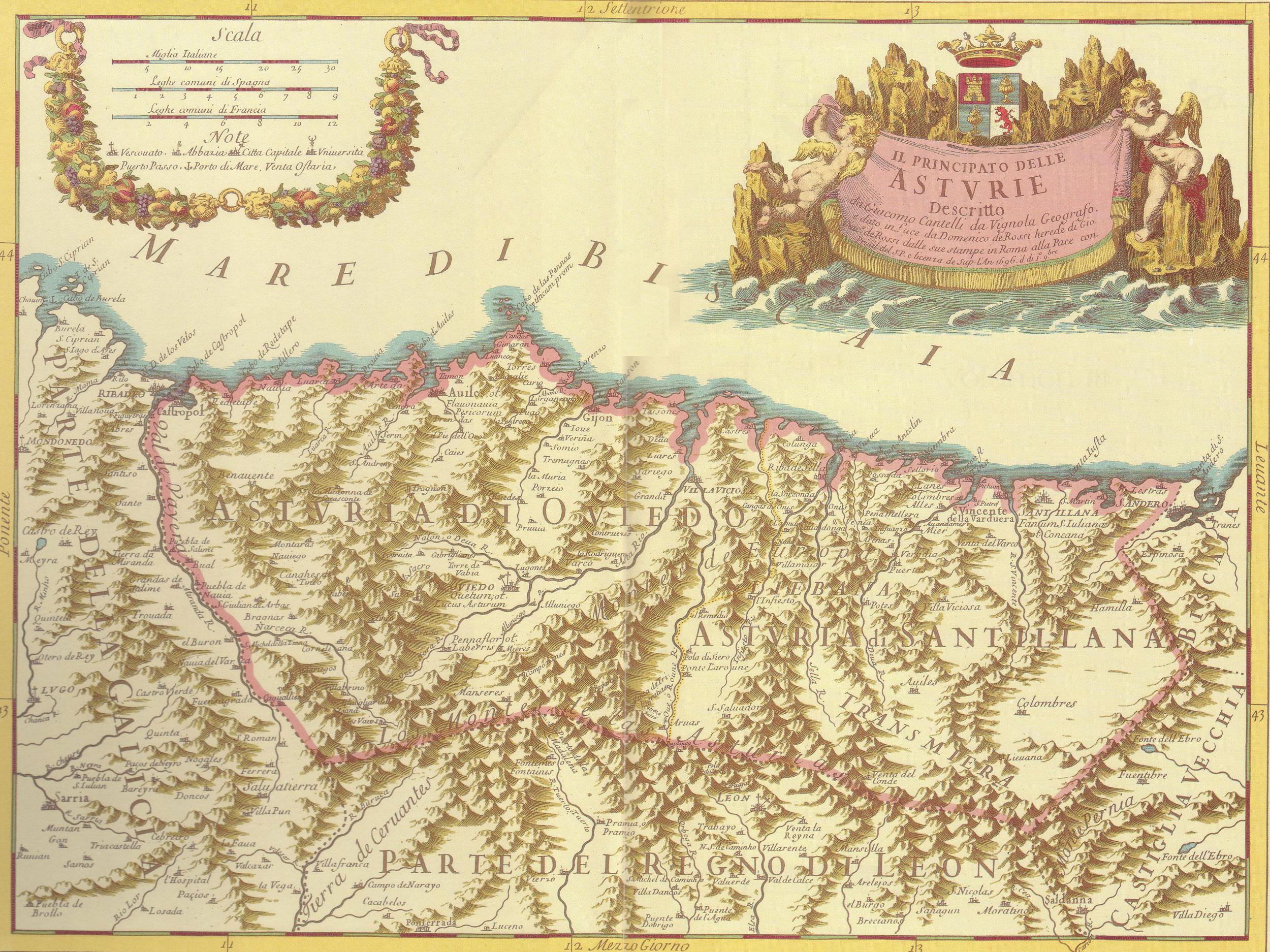 Asturias map 1696