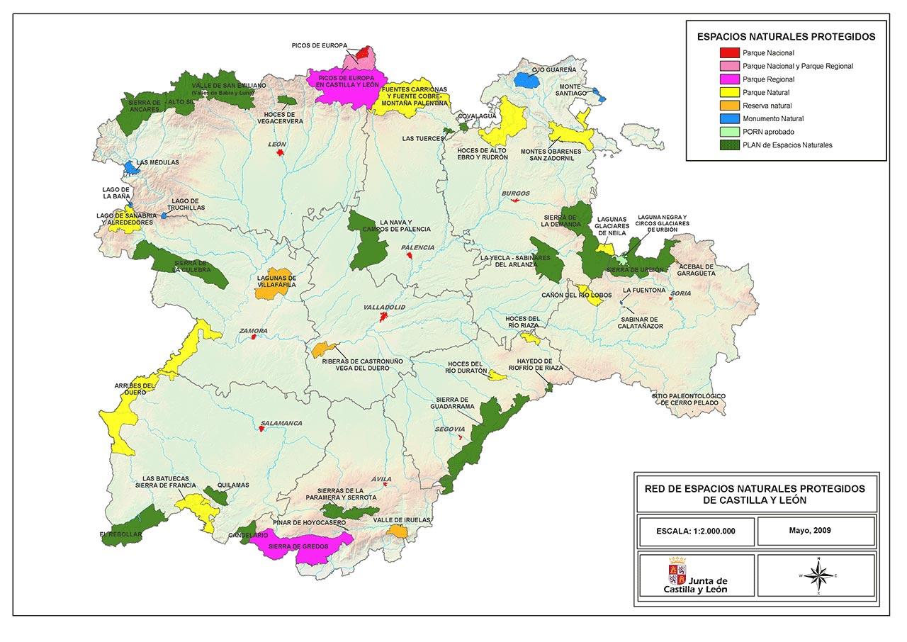 Red de Espacios Naturales de Castilla y León 2009