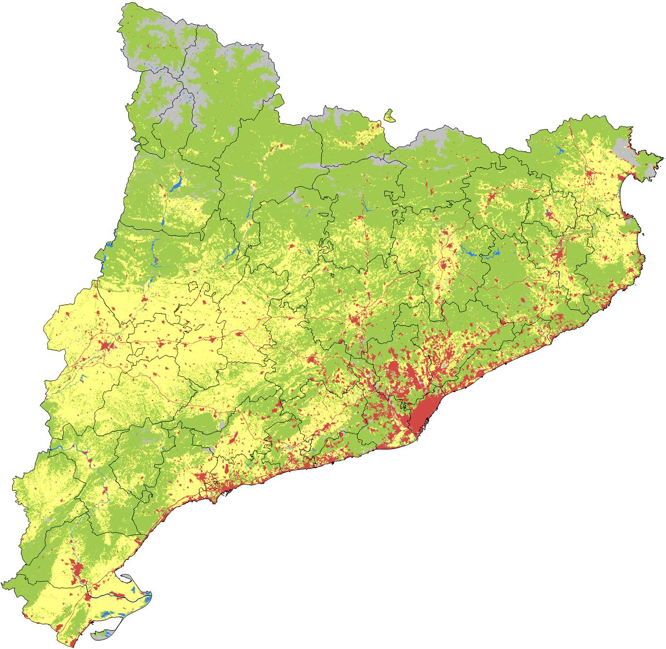Usos del suelo de Cataluña