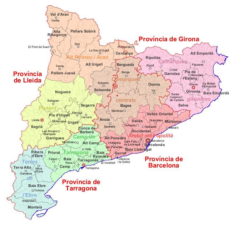 Organización administrativa de Cataluña 2007