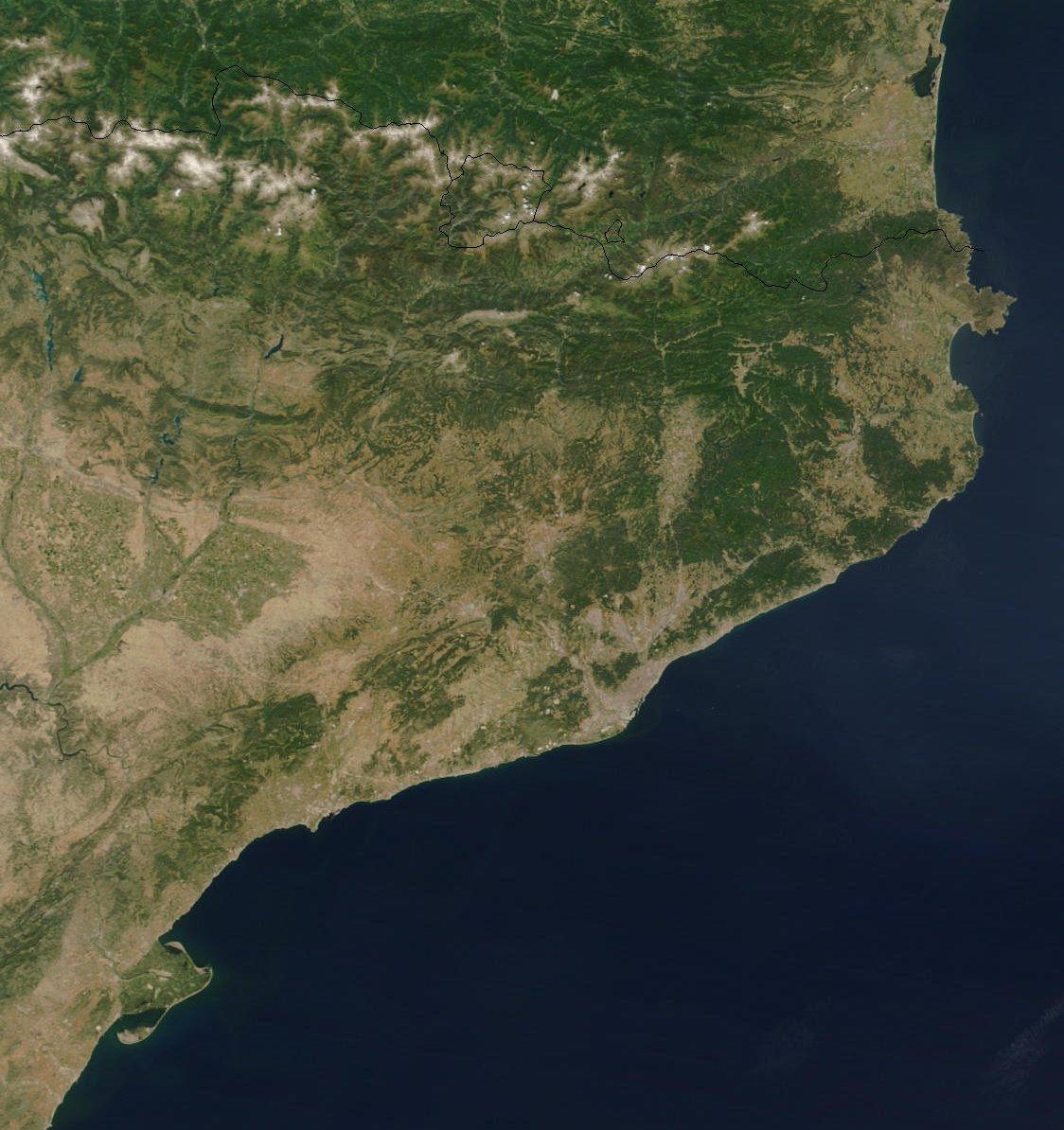 Mapa Satelital de Cataluña