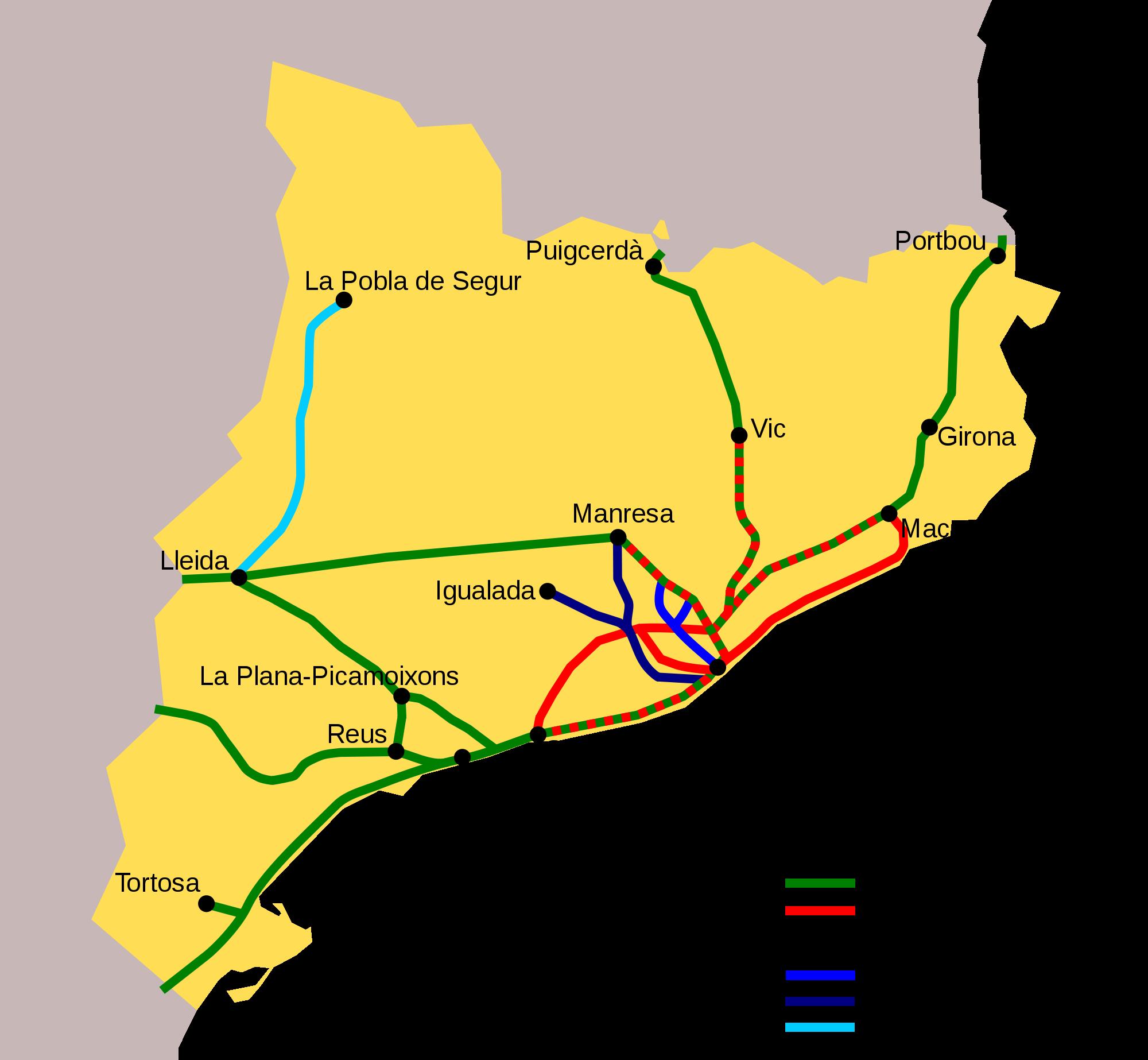 Ferrocarriles de Cataluña 2008