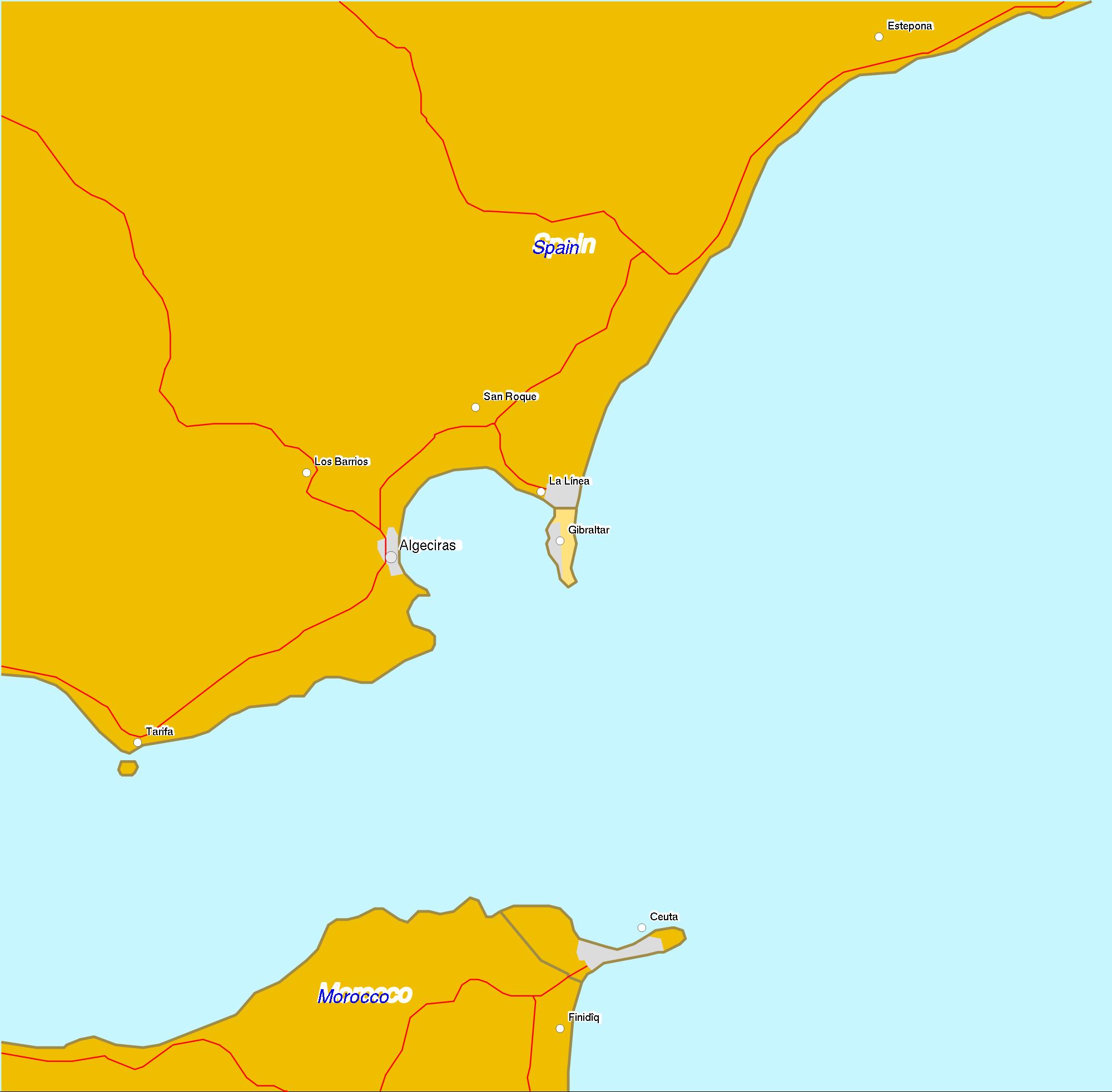 Location of Ceuta 2007