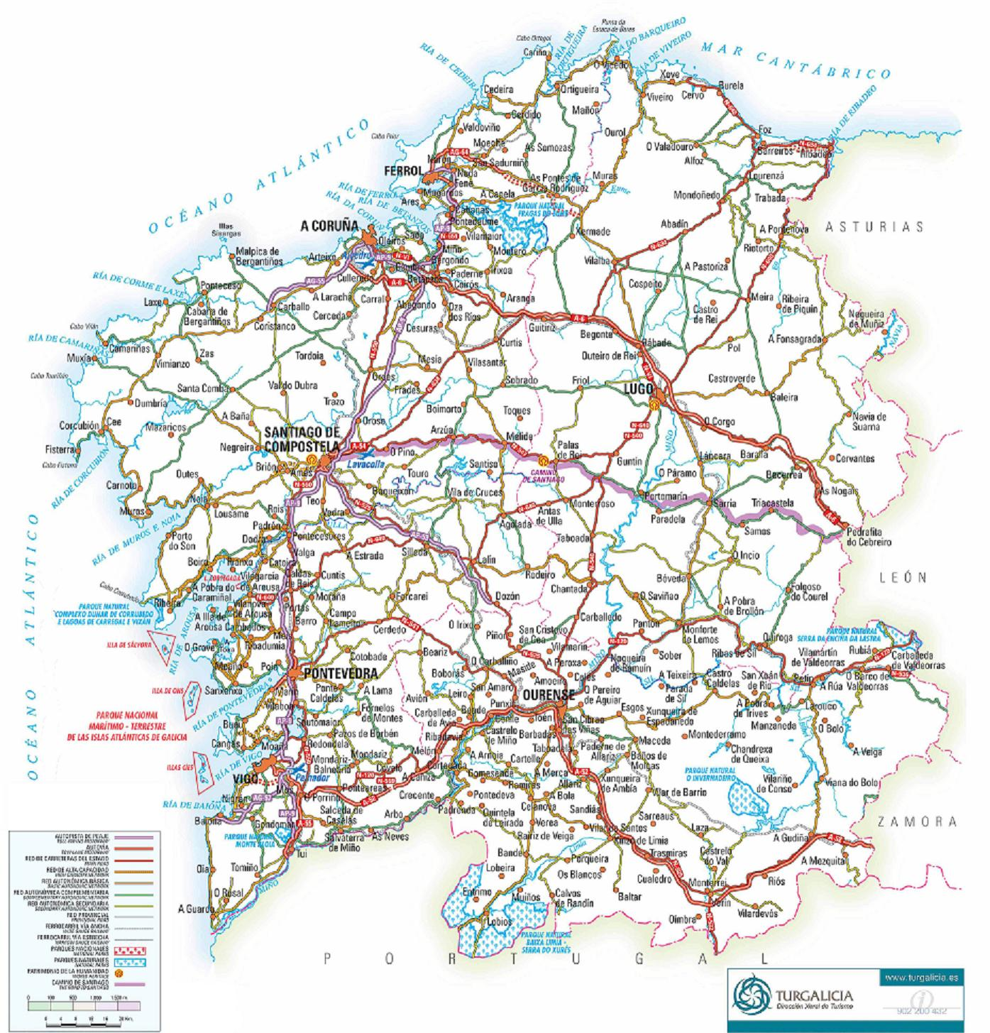 Galicia road map