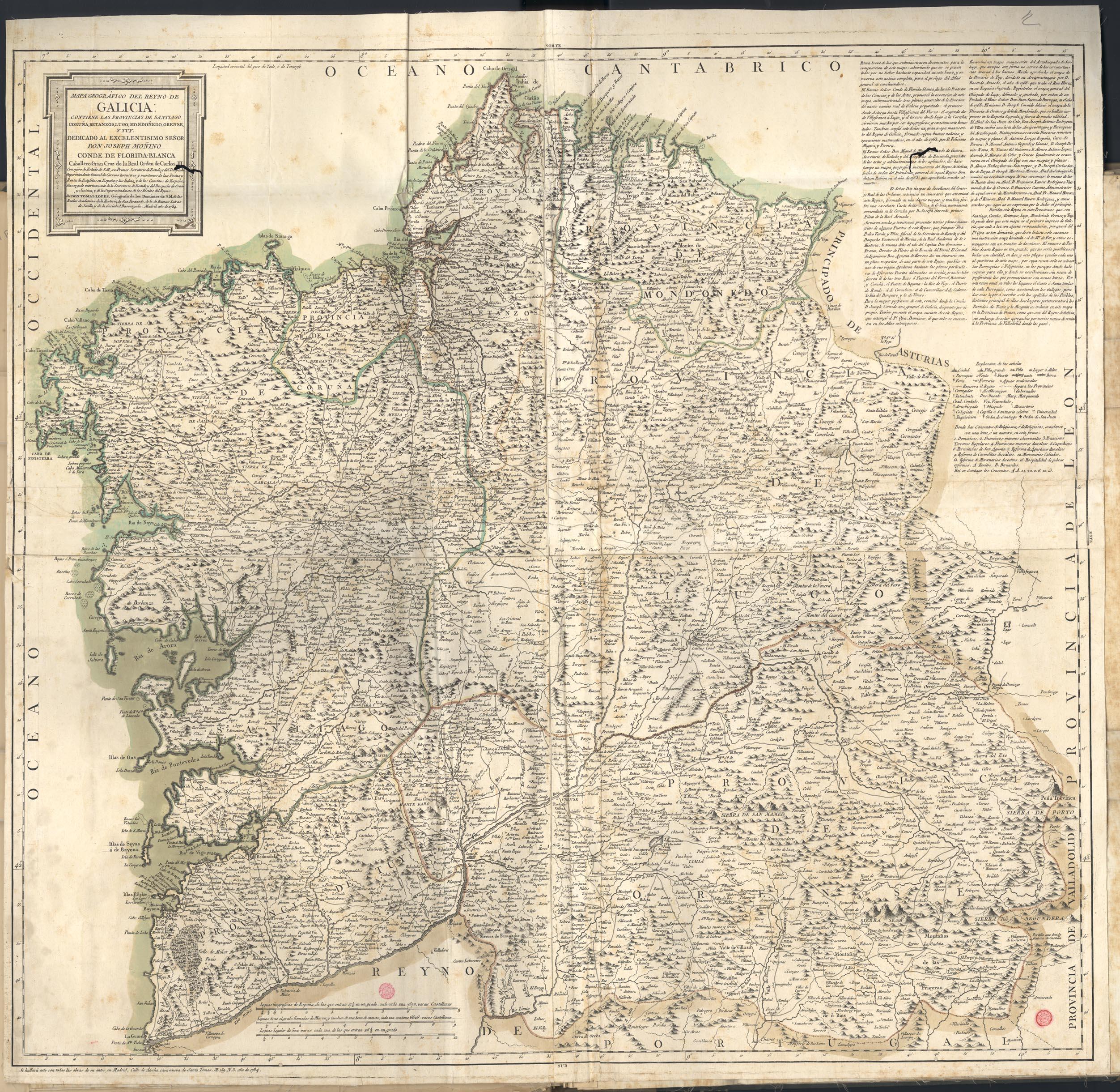 Reyno de Galicia 1784