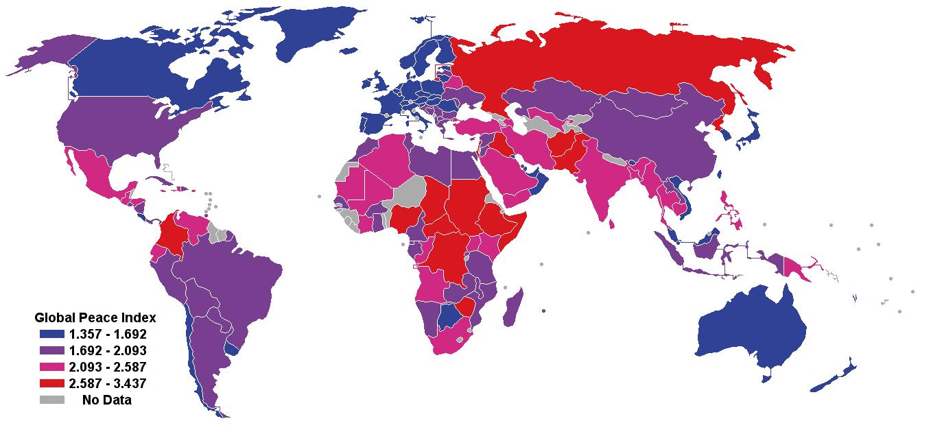 Índice de Paz Global del Mundo 2007