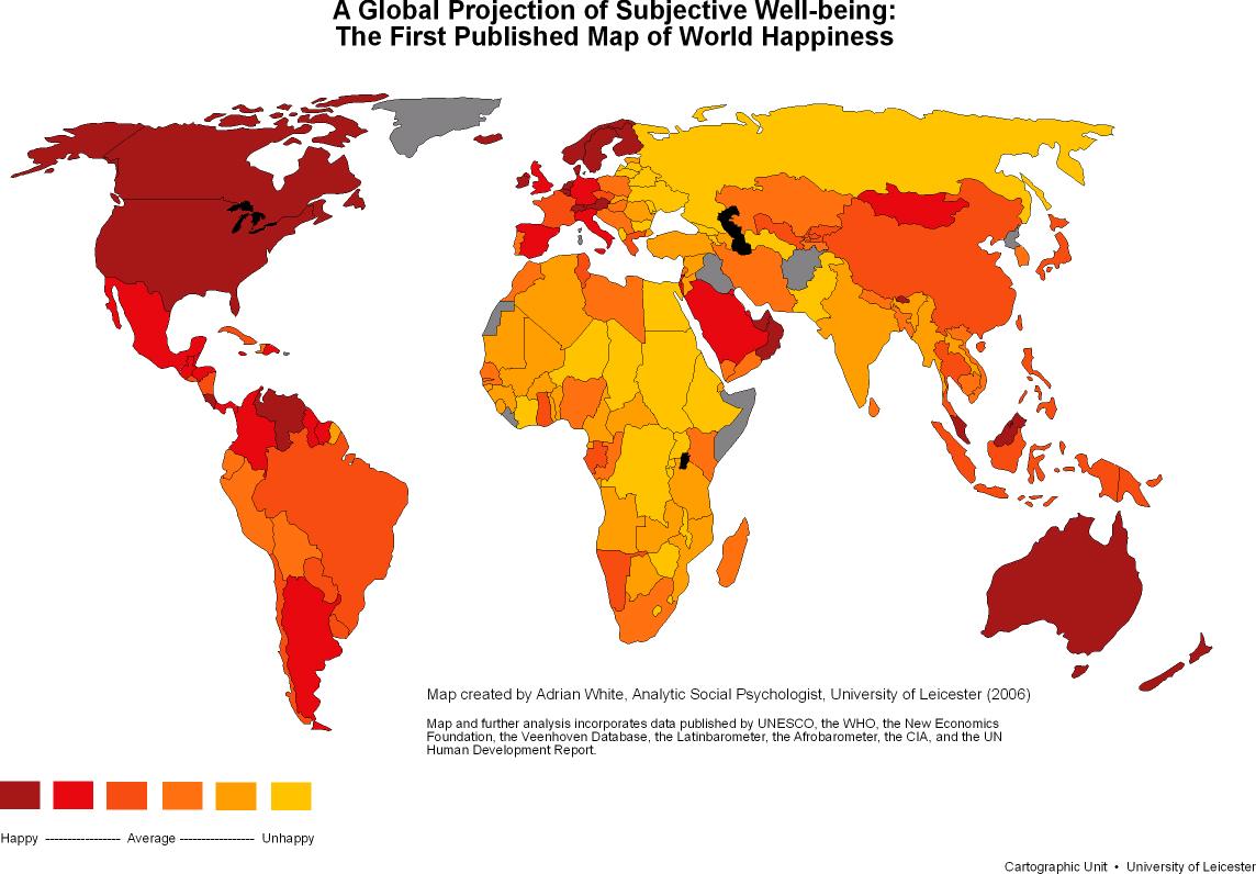 La felicidad en el mundo 2006