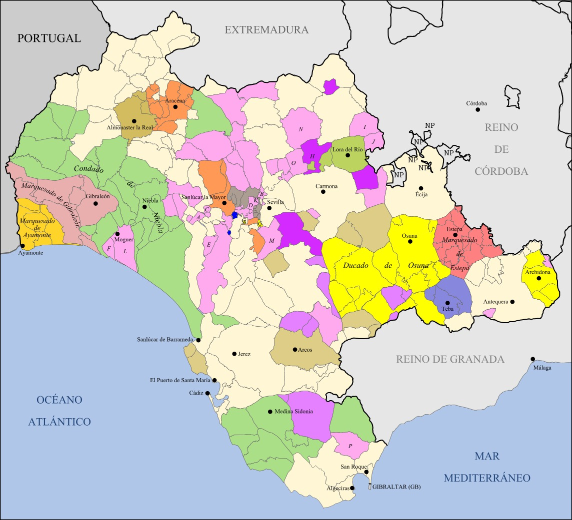 Seignory of the Kingdom of Seville belonging to the now province of Cádiz 1833