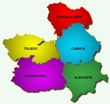 Las provincias de Castilla-La Mancha