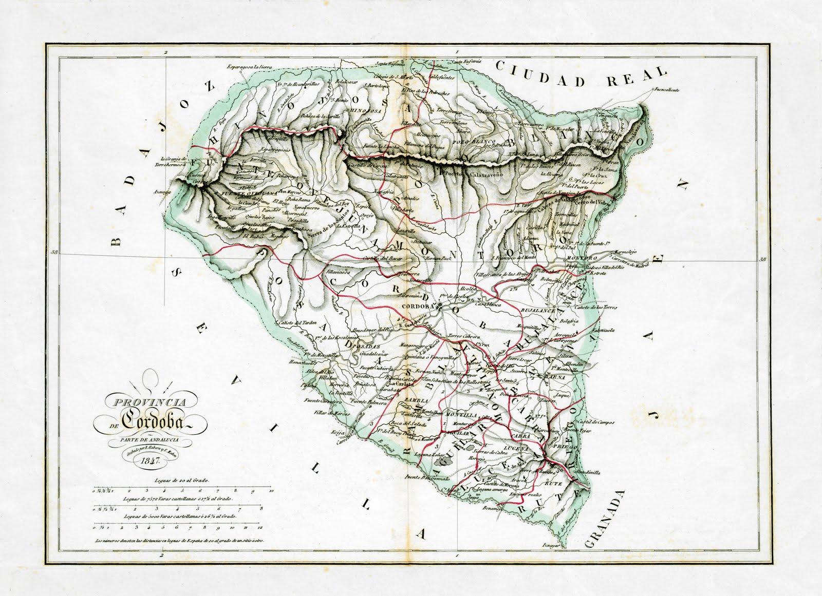 Provincia de Córdoba en 1847