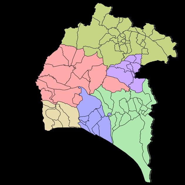 Comarcas de la provincia de Huelva 2007