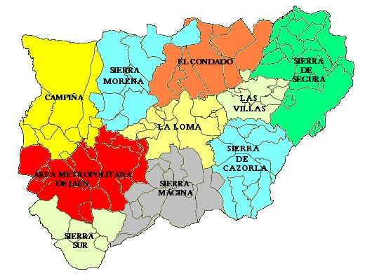 Comarcas de la provincia de Jaén 2007