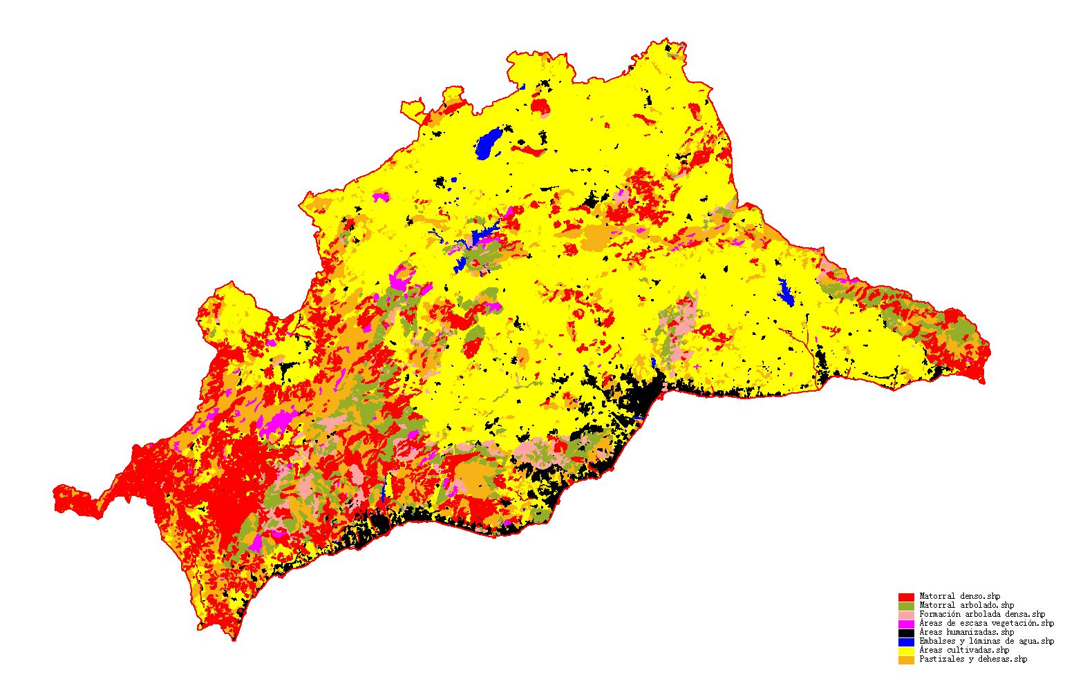 Vegetation of the province of Málaga