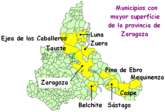 Municipalities of the province of Zaragoza 2007