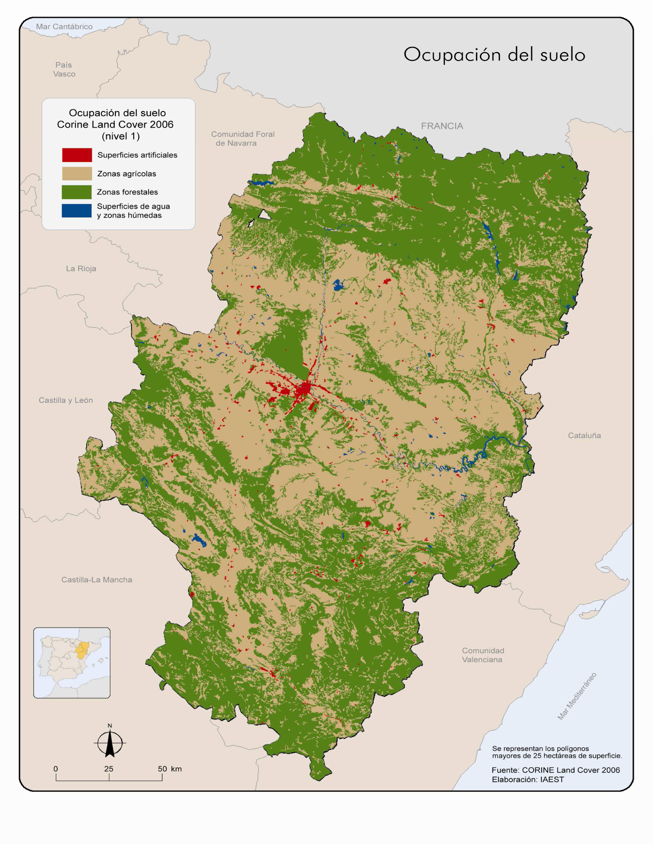 Aragón land cover 2006