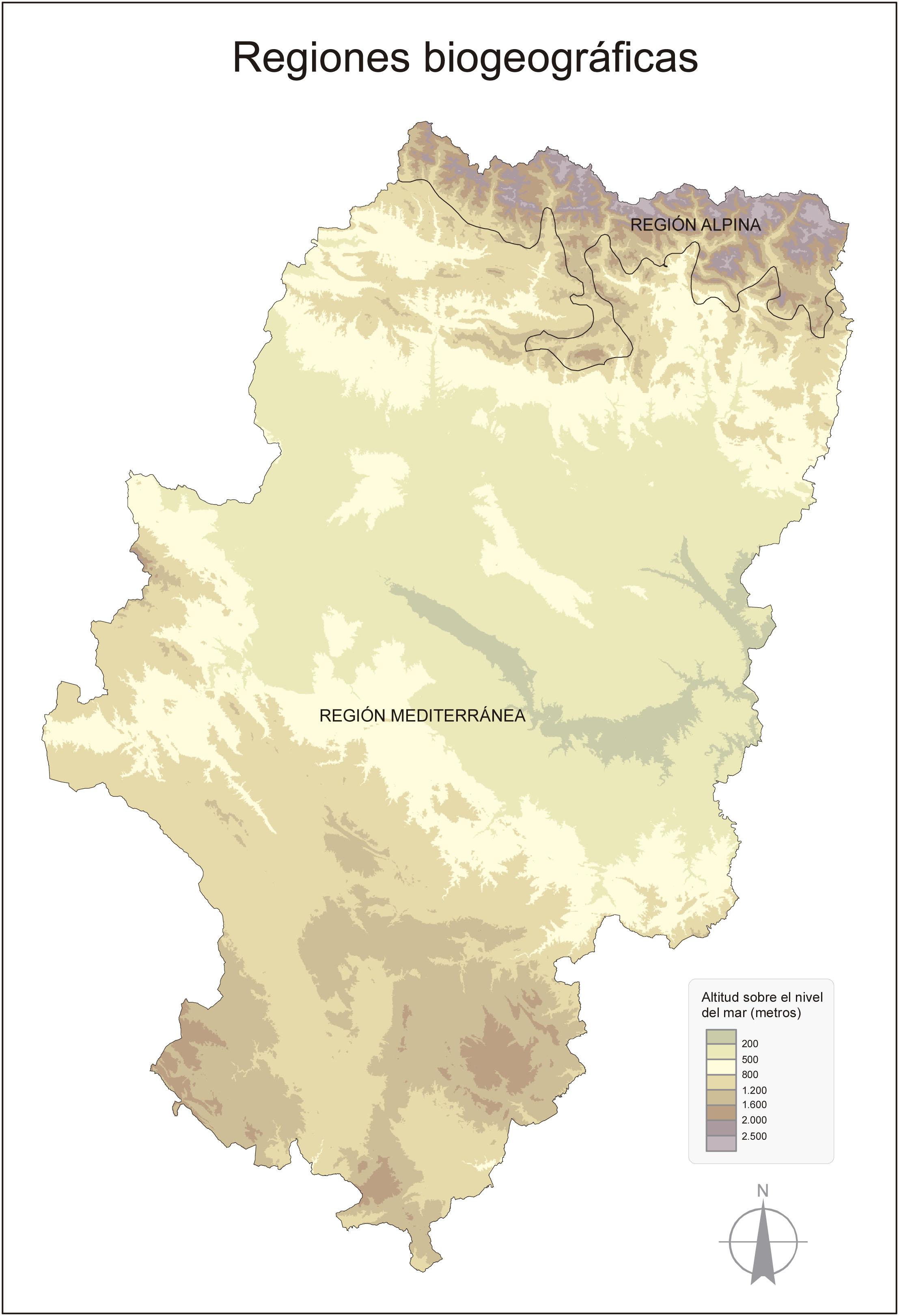 Regiones biogeográficas en Aragón