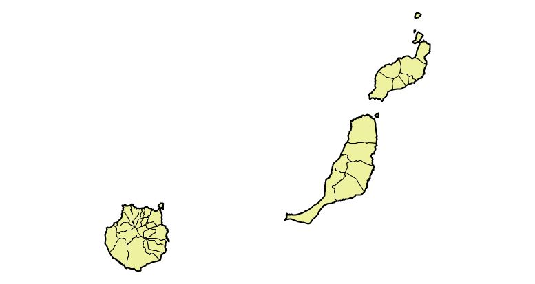 Municipios de la Provincia de Las Palmas 2003