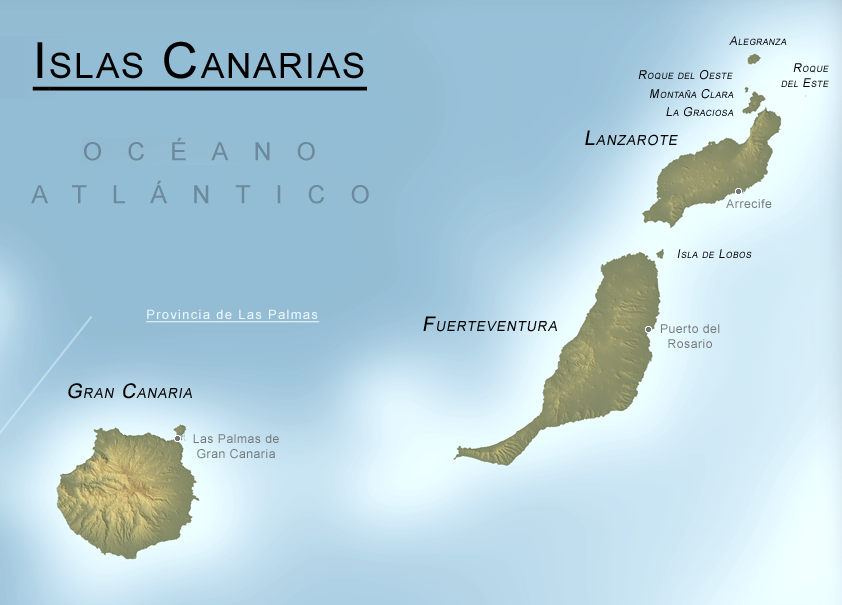 Province of Las Palmas physical map