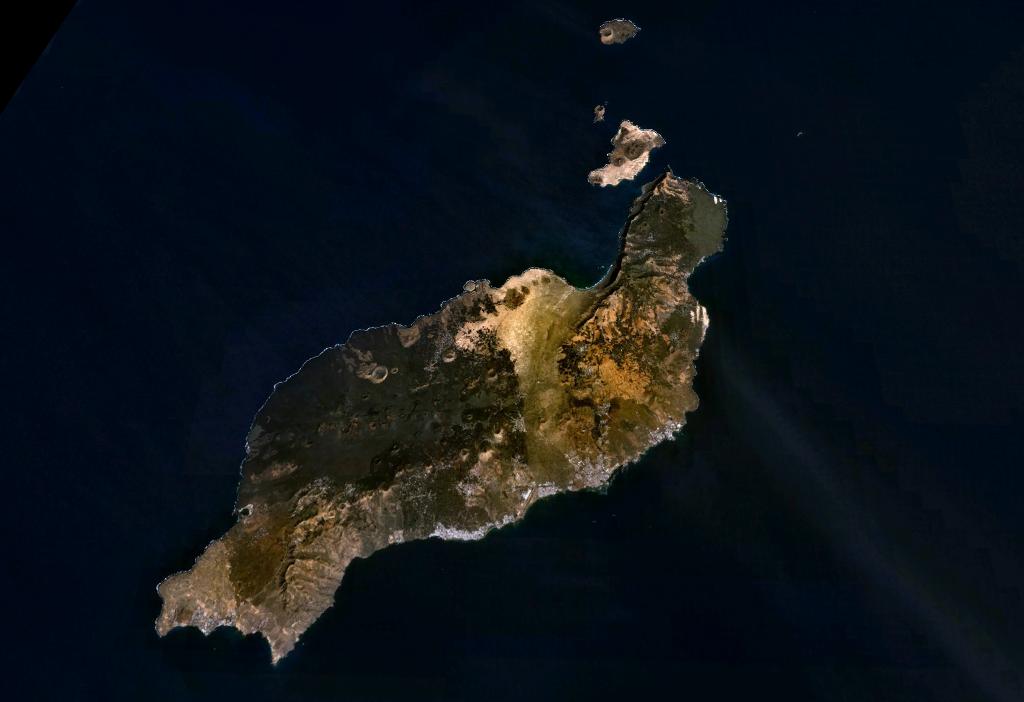 Imagen, foto satelite de la Isla Lanzarote