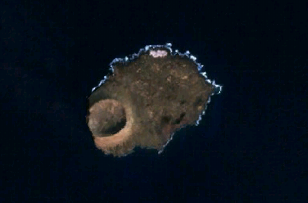 Imagen, foto satelite de la Isla Alegranza