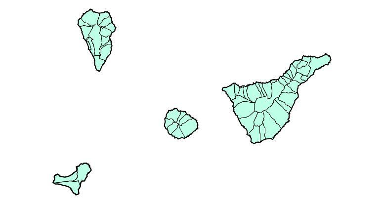 Municipalities of the Province of Santa Cruz de Tenerife 2003