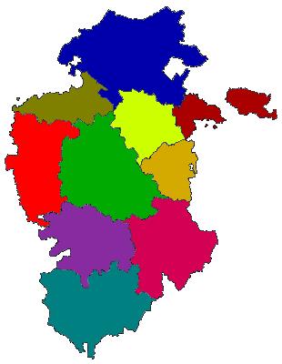 Comarcas of the province Burgos 2007