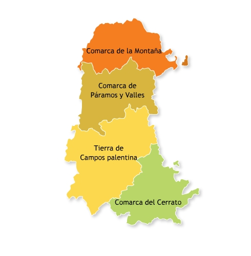 Administrative comarcas of the Province of Palencia