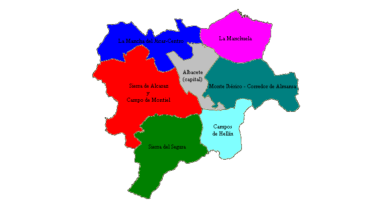 Comarcas of the Province of Albacete 2007