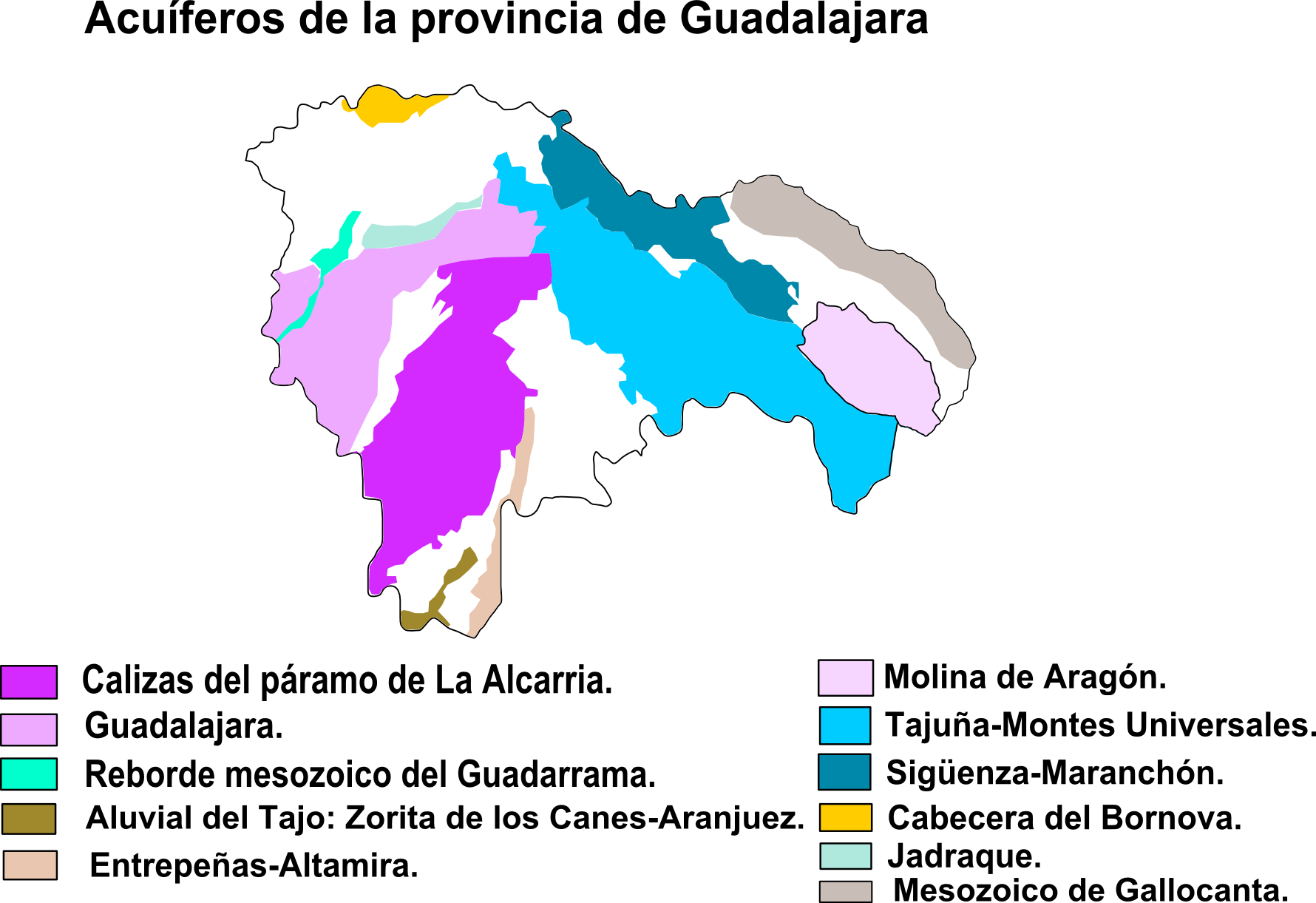 Aquifers in the Province of Guadalajara 2008