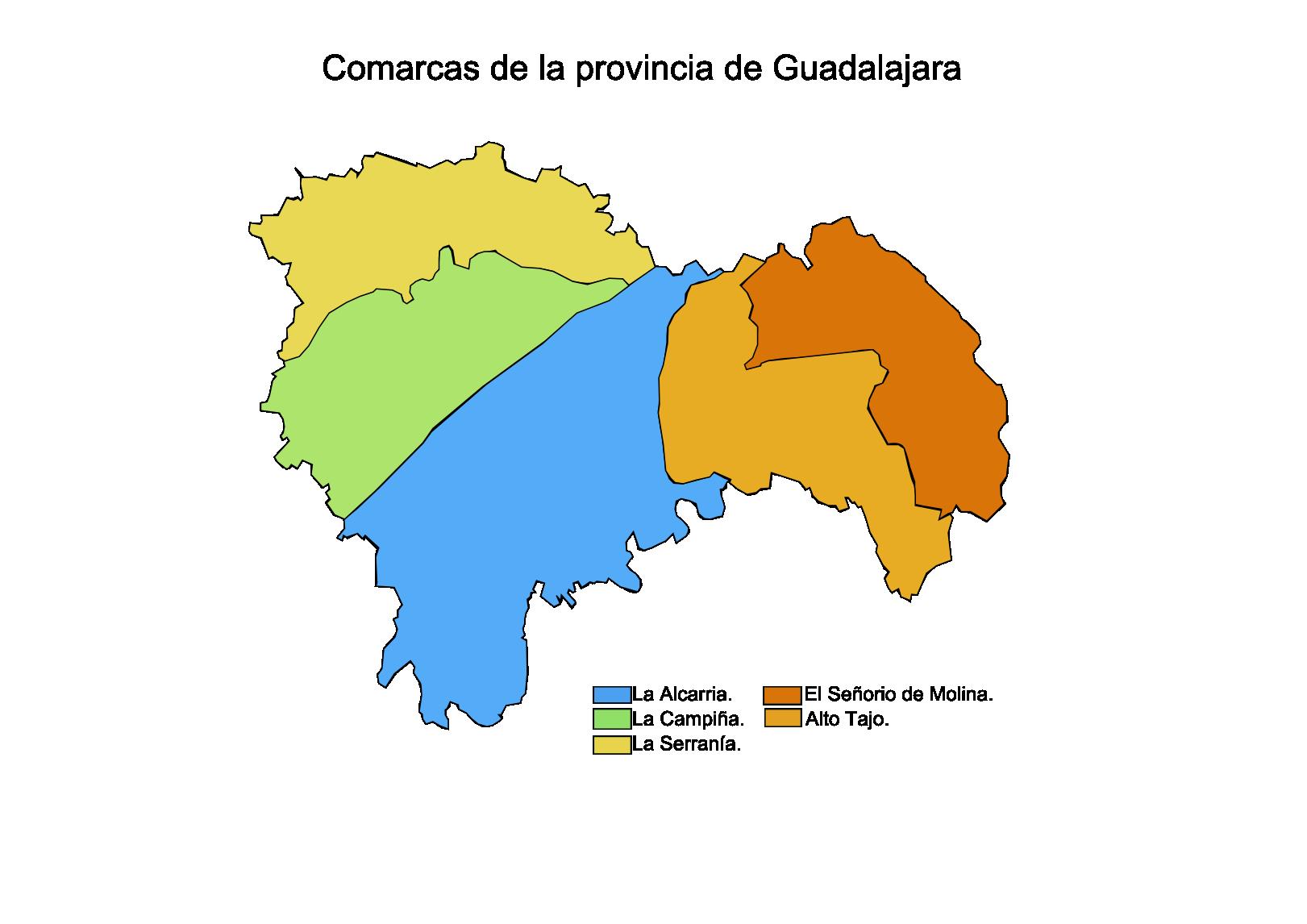 Comarcas de la Provincia de Guadalajara 2008