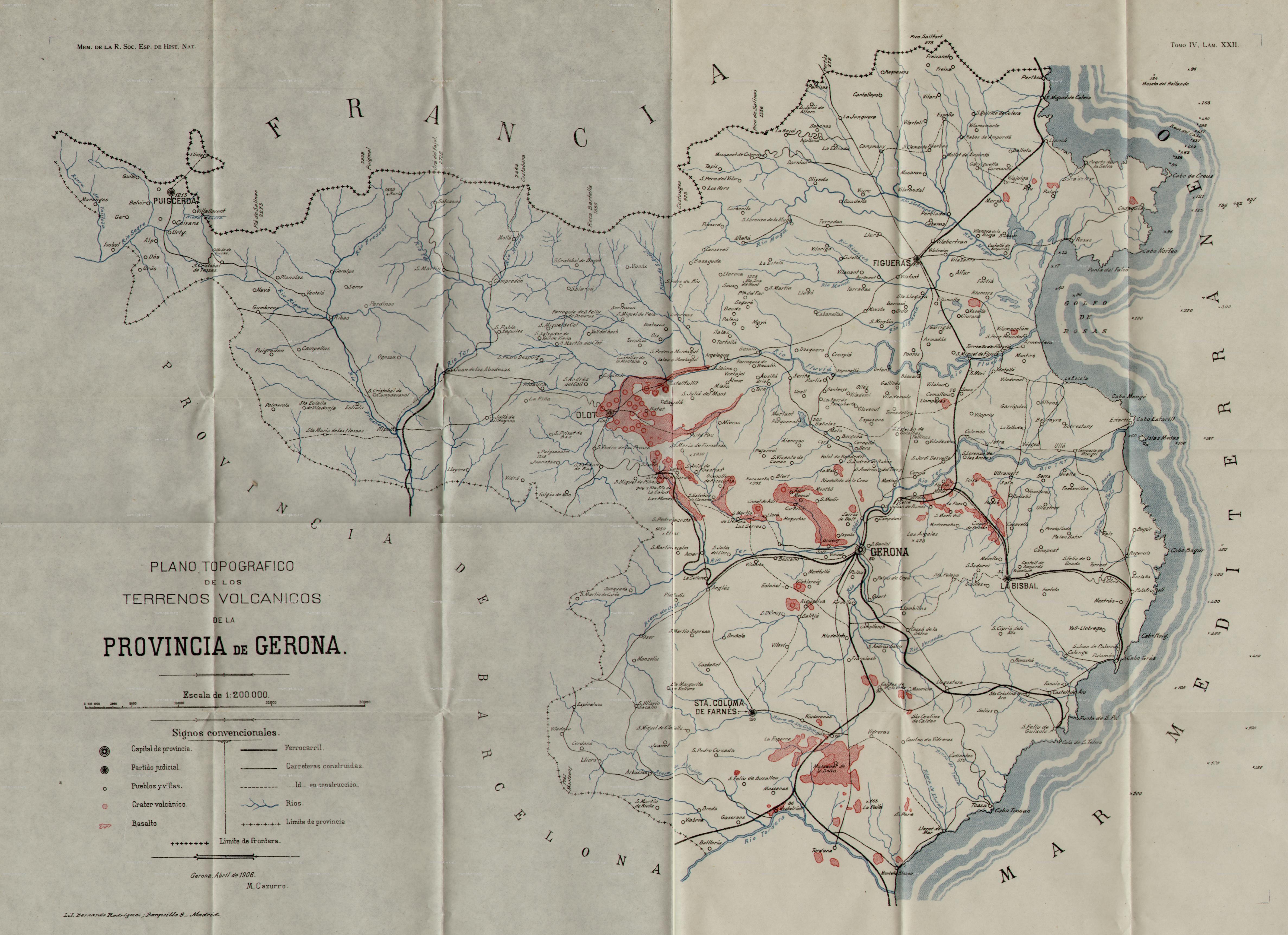 Terrenos volcánicos de la provincia de Gerona