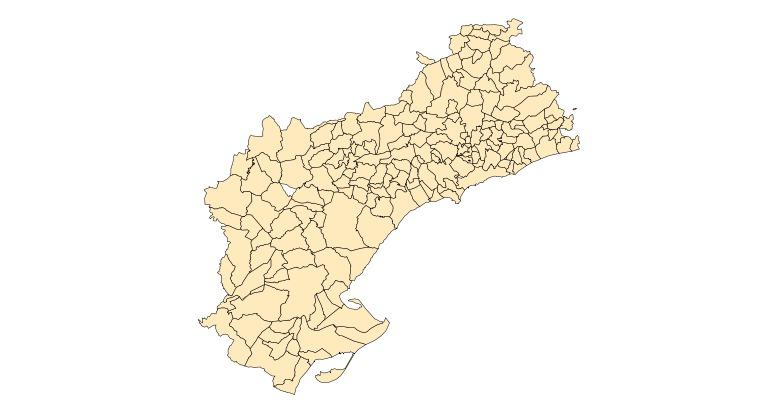 Municipalities of the Province of Tarragona 2003