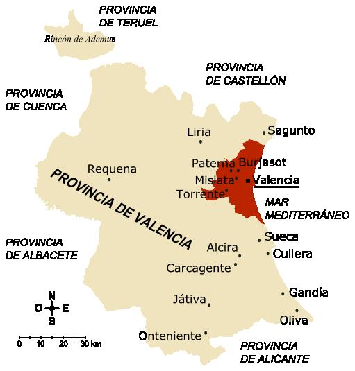 Ciudades de la provincia de Valencia 2005