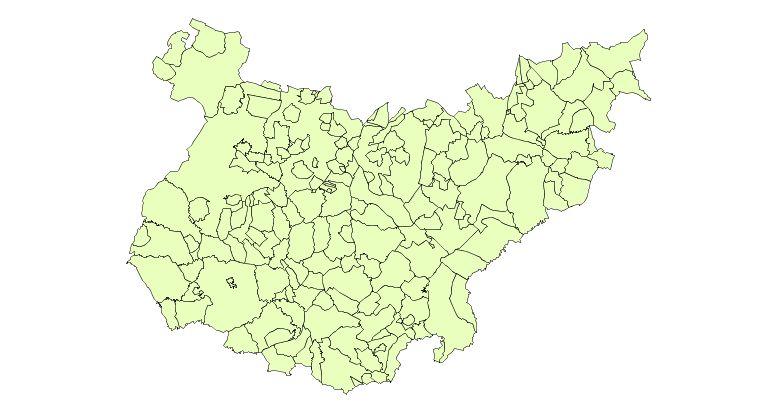 Municipalities of the Province of Badajoz 2003