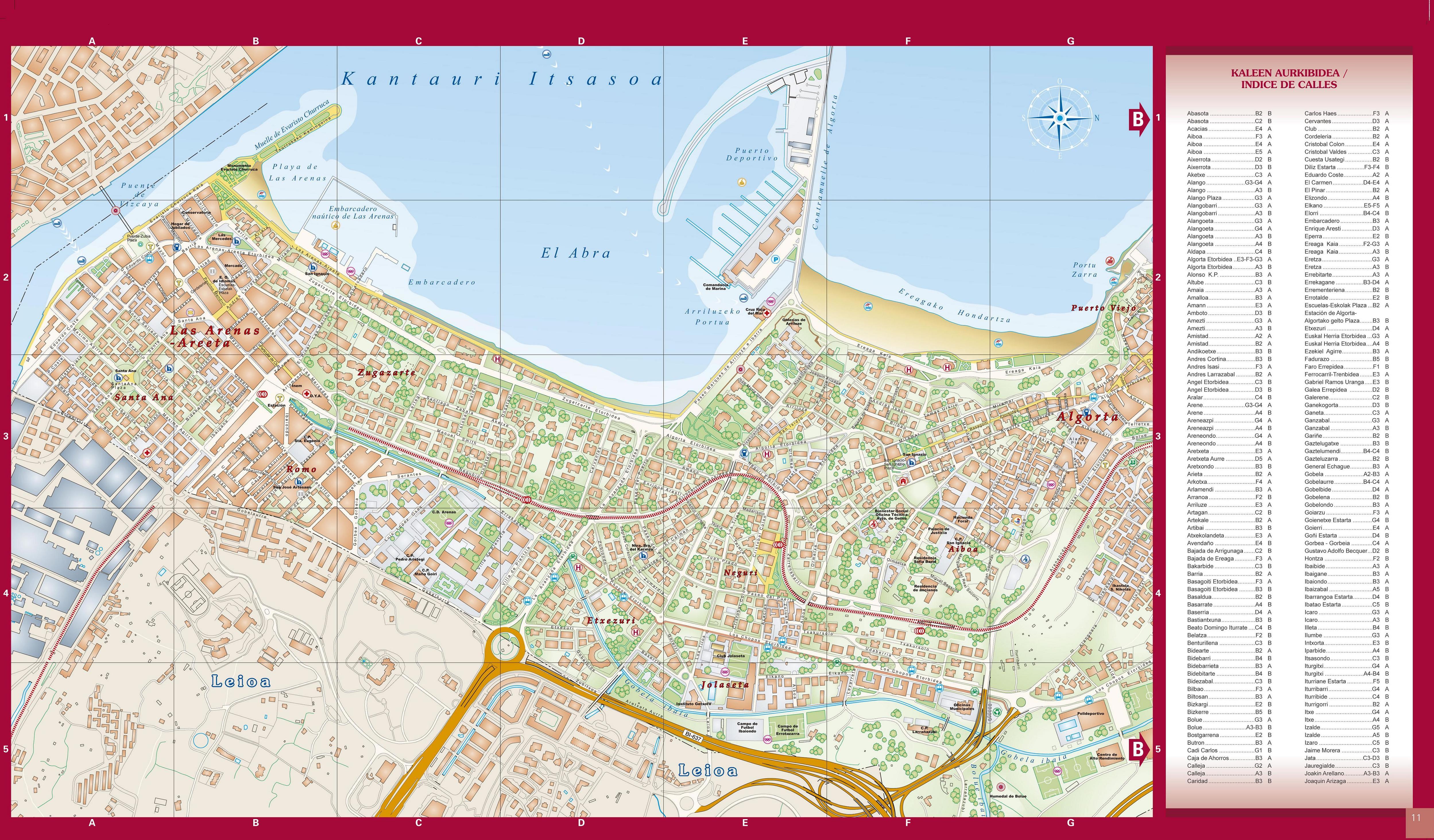 Mapa de Guecho (2) 2004