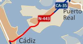 N-443 highway by the city of Cádiz 2008