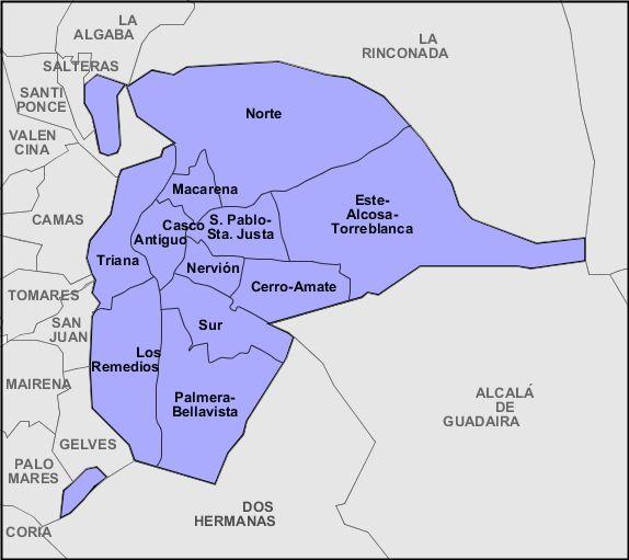 Distritos de Sevilla 2008