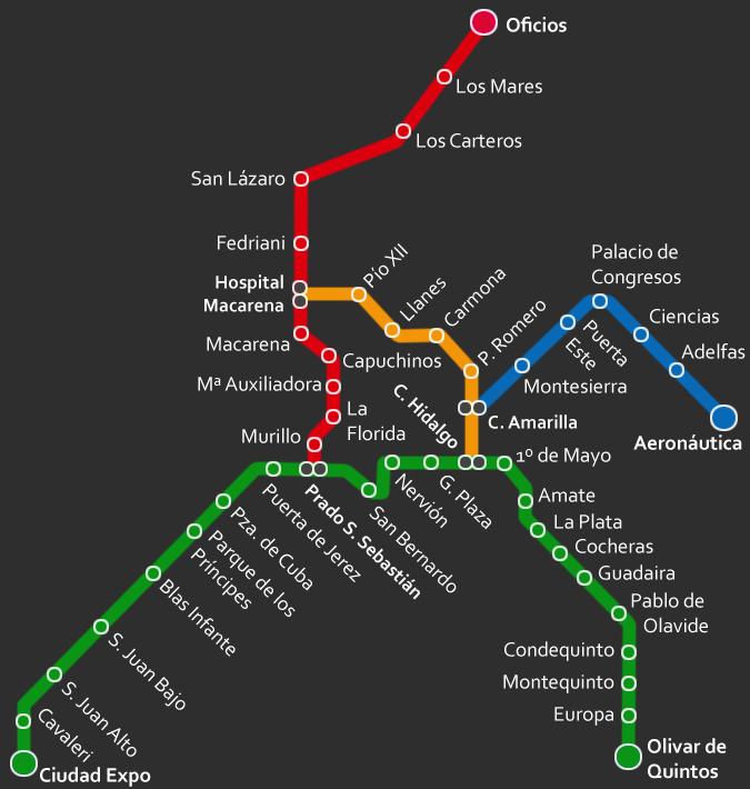 Metro de Sevilla proyectado para 2017