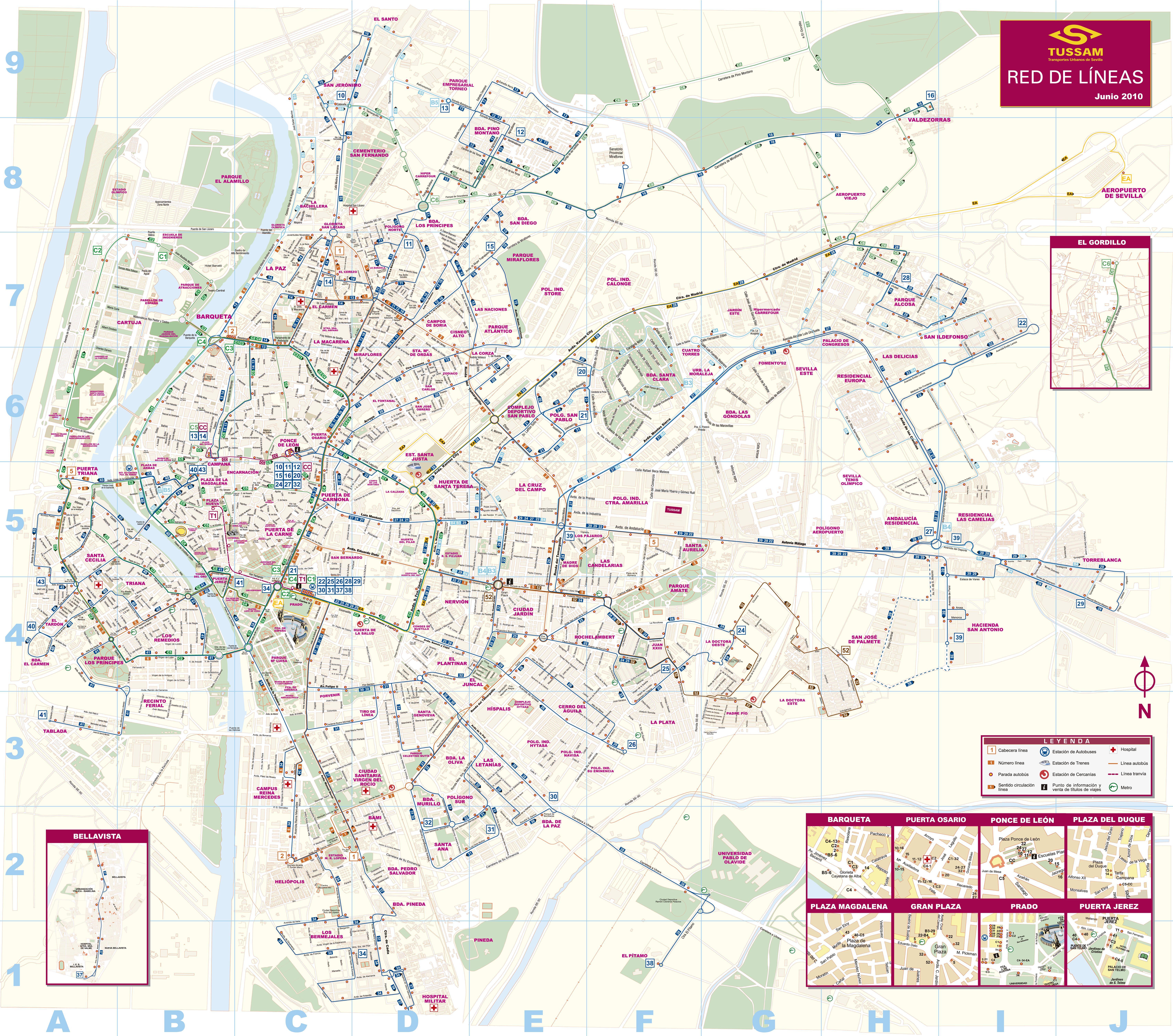 Seville's collective urban transport 2010