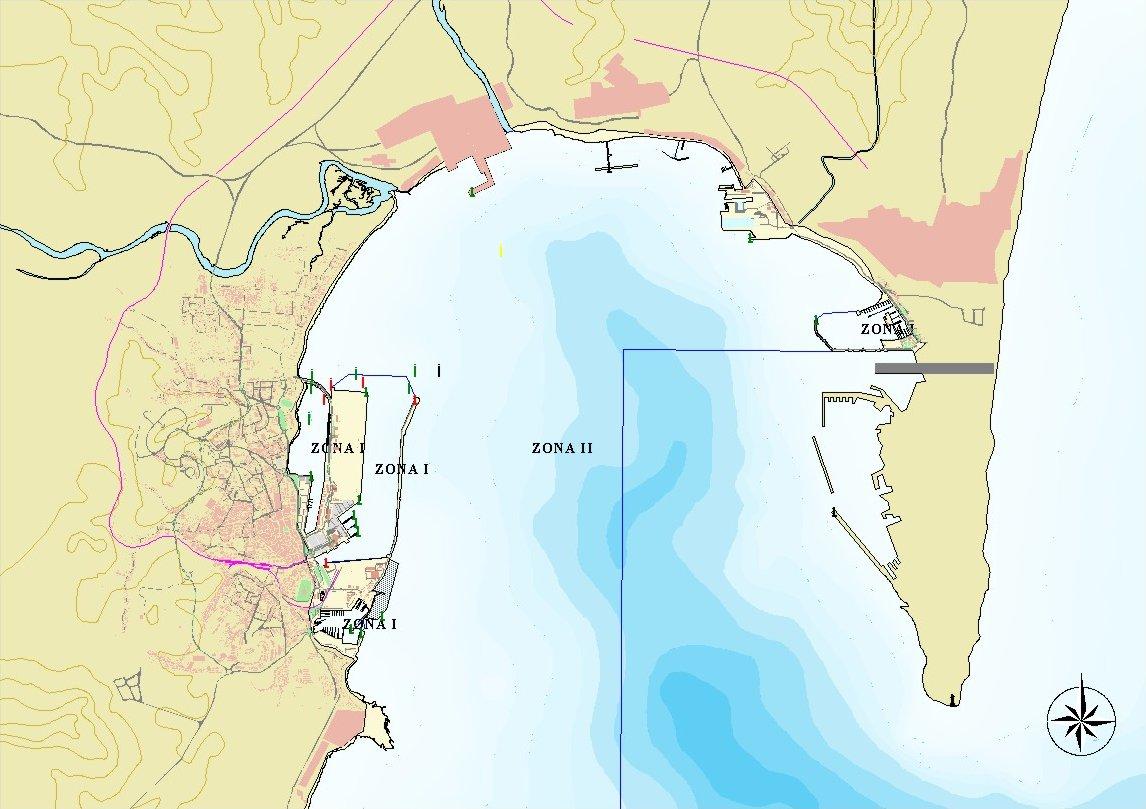Mapa del puerto de Algeciras