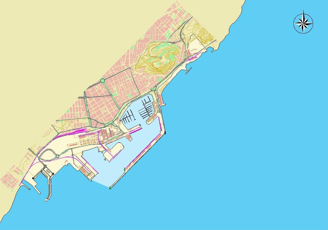 Mapa del puerto de Alicante