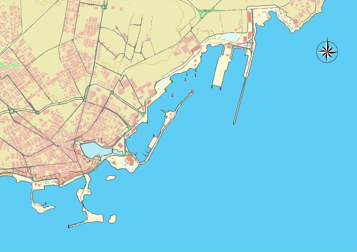 Arrecife port map