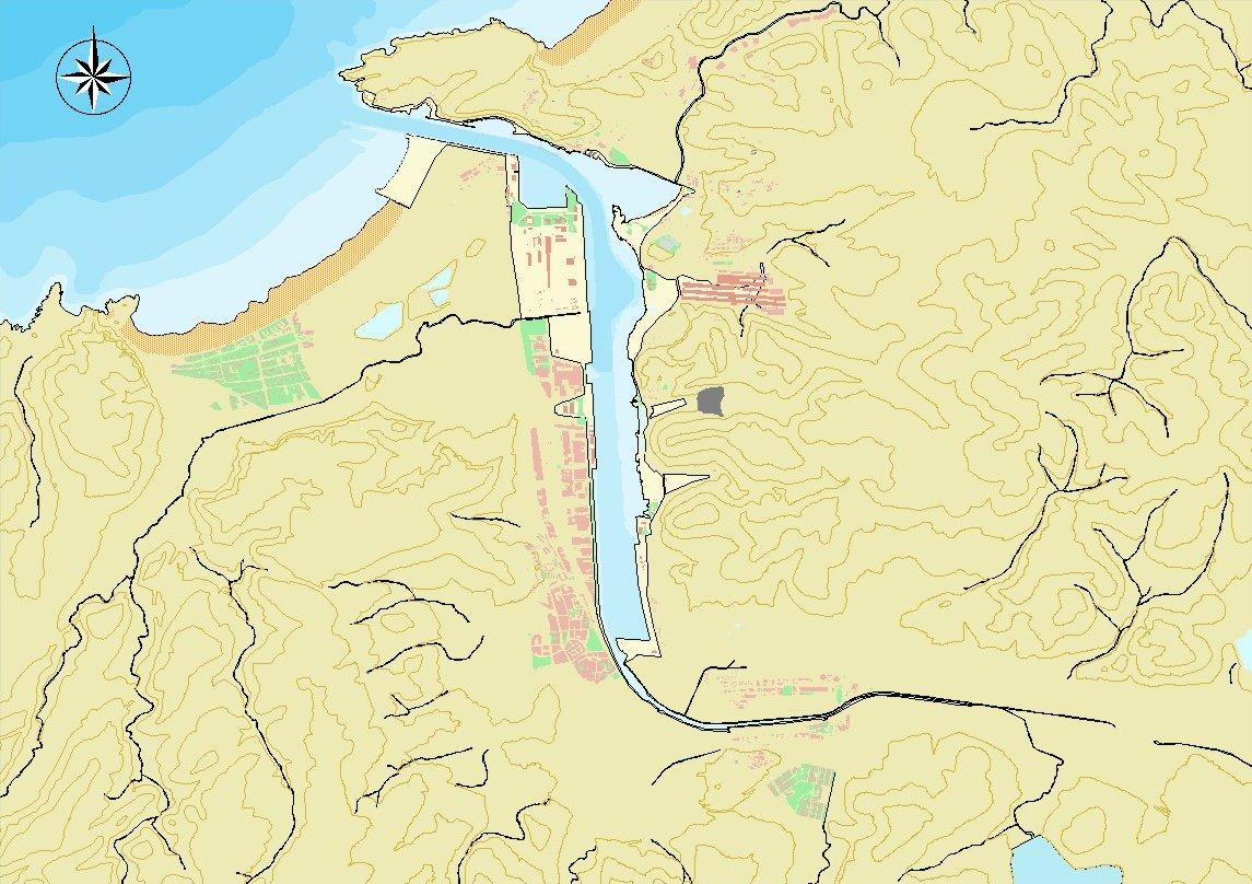 Mapa del puerto de Avilés