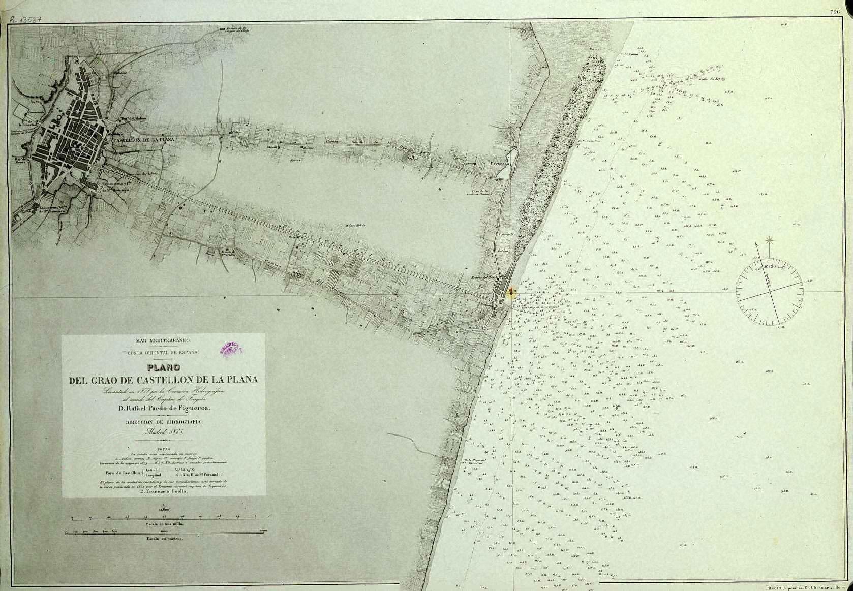 Grao de Castellón map 1878