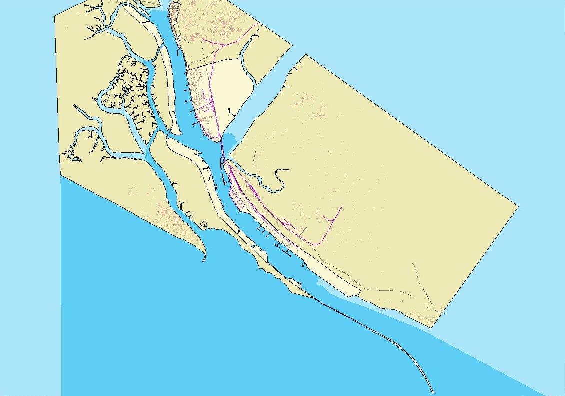 Mapa del puerto de Huelva