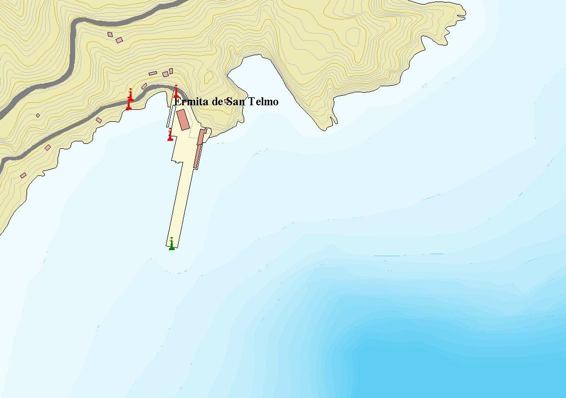 Mapa del puerto de La Estaca