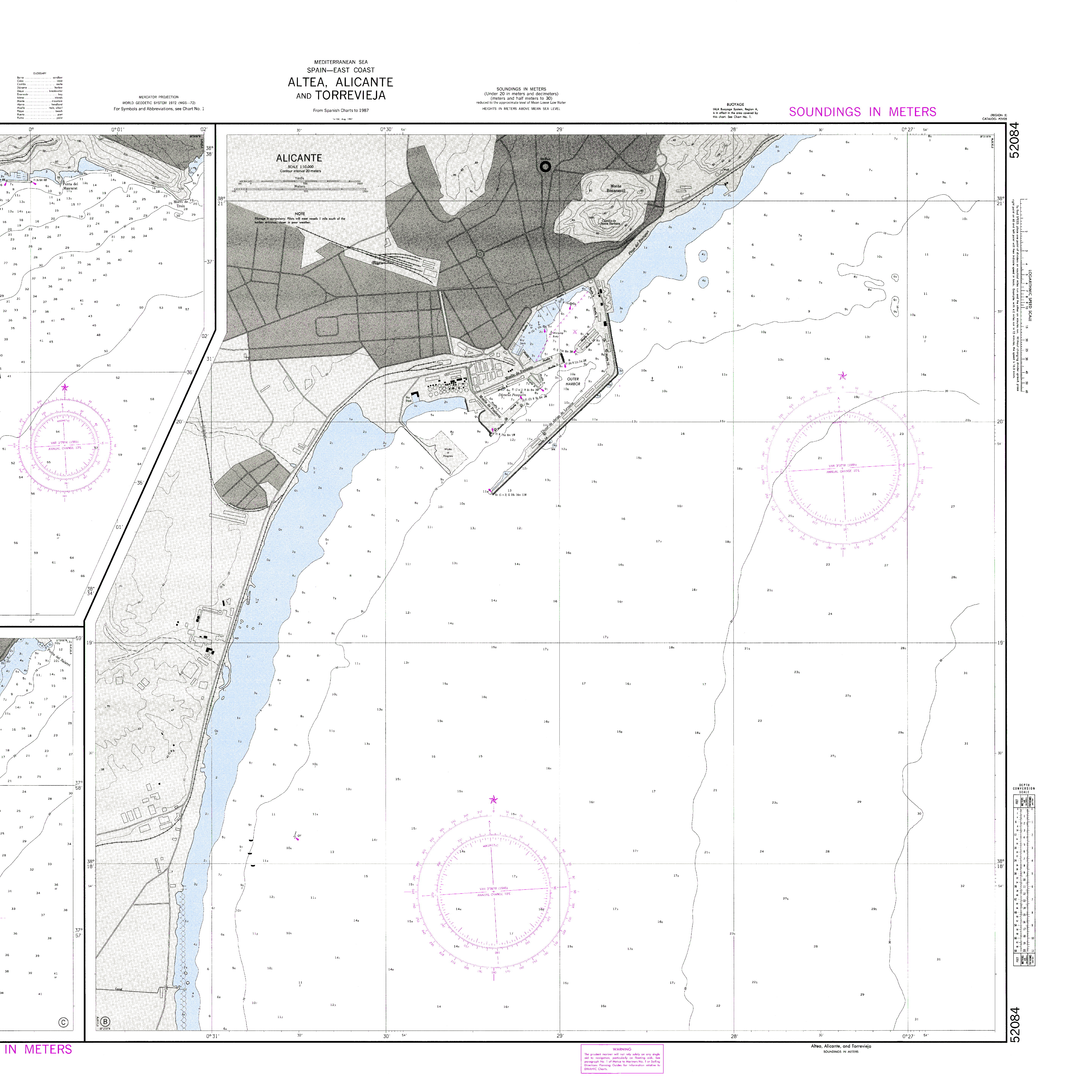 Port of Alicante nautical chart