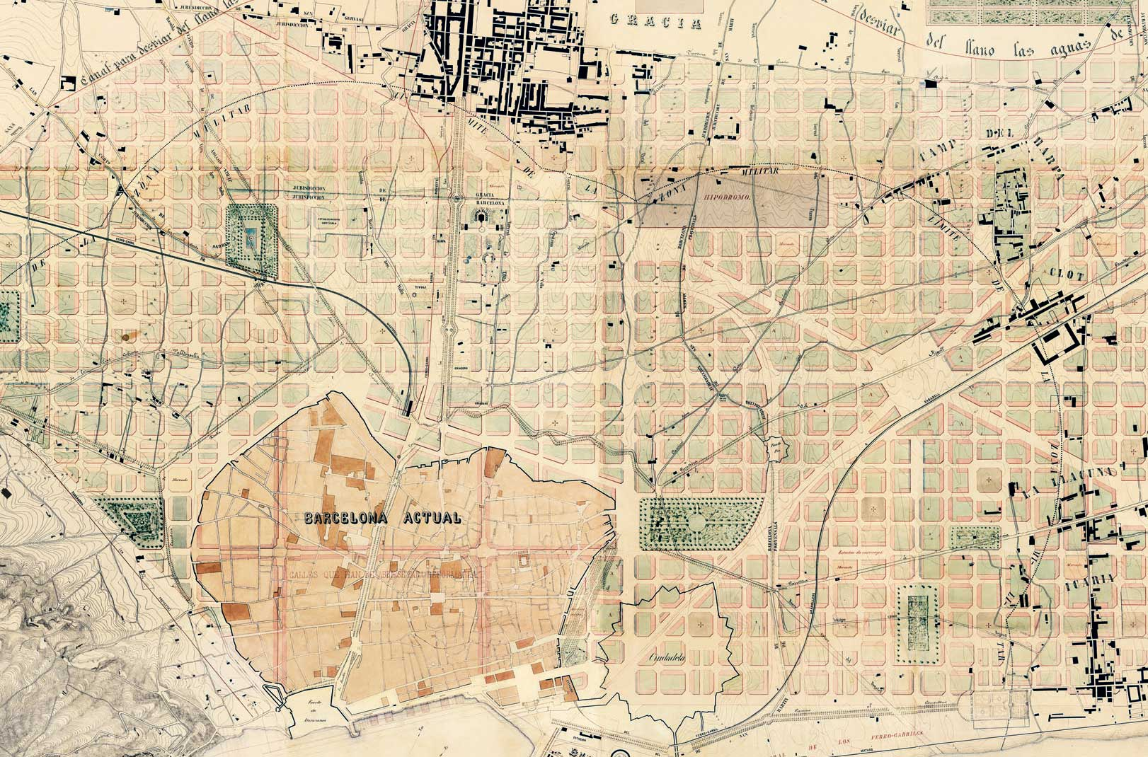 Barcelona in 1859